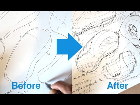 How to draw [Random product] design in 4 steps | Industrial Design Sketching
