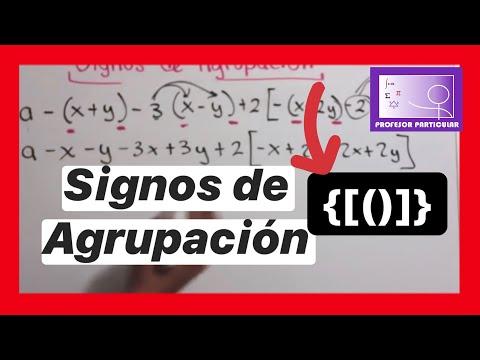 Signos de agrupación aprendelo rápido y fácil