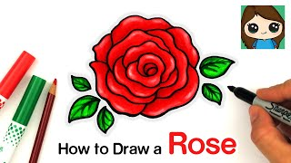 How to Draw an Open Rose EASY