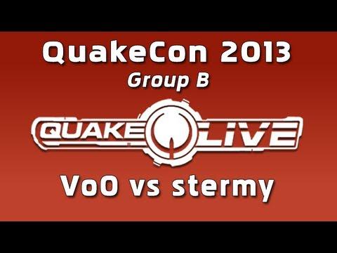 Vo0 vs stermy - QuakeCon 2013 Group B (Quake Live Shoutcast)