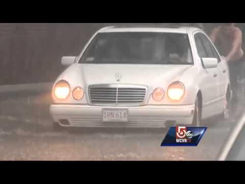 Rain turns New Bedford roads into rivers
