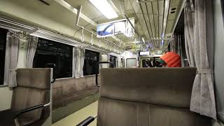 JR三江線 キハ120車内風景 JR Sankō Line, from Gōtsu Honmachi Station to Gōtsu Station (2017.12)