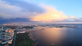 Смотреть видео Над Санкт-Петербургом / Above the Saint-Petersburg (Lakhta 360) онлайн