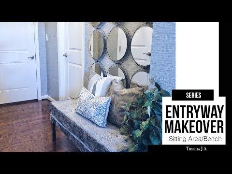DIY Entryway Makeover - Sitting Area/Bench | Episode 2