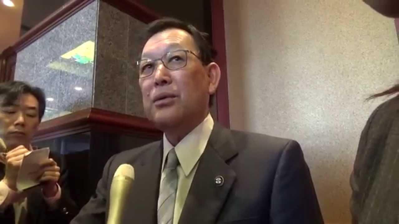 Ryuichi Kino 茨城県市町村長会議後、北茨城市長の囲み取材 - YouTube