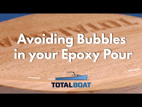 How To Avoid Bubbles in your Epoxy Pour