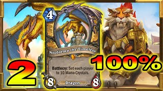 Hearthstone: 100% Winrate With  Nozdormu OTK Shirvallah!  Is Actually Working 2 | Descent of Dragons