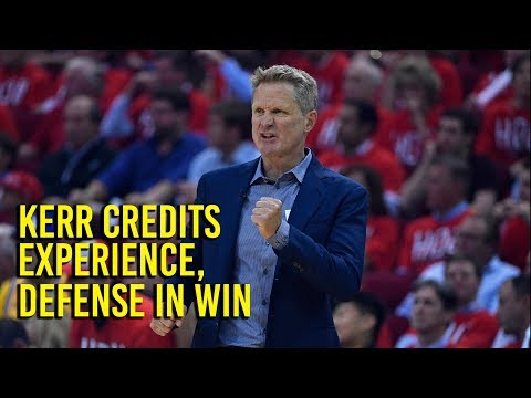 NBA Playoffs: Kerr credits experience, defense in Warriors win over Rockets