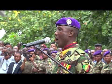 CONGO COL GERVAIS AKOUANGUE NOUVEAU COMMANDANT DE LA GARDE REPUBLICAINE SYLVESTRE MESSI