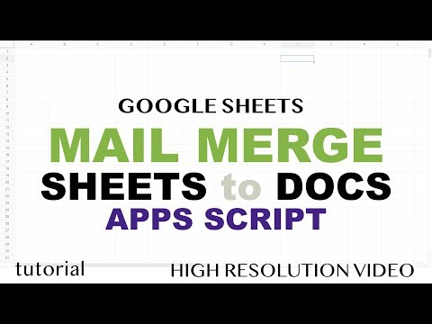 Mail Merge Google Sheets To Google Docs - No Addons - Apps Script Tutorial