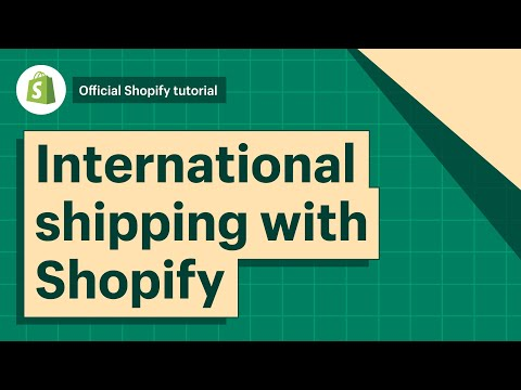International Shipping with Shopify Shipping || Shopify Help Center 2019 thumbnail