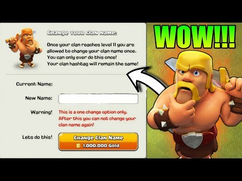 CHANGE YOUR CLAN NAME | HUGE CLASH OF CLANS NAME CHANGE UPDATE CONCEPT