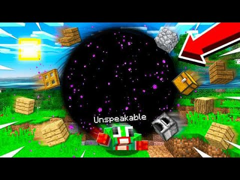 ESCAPING A BLACK HOLE IN MINECRAFT!