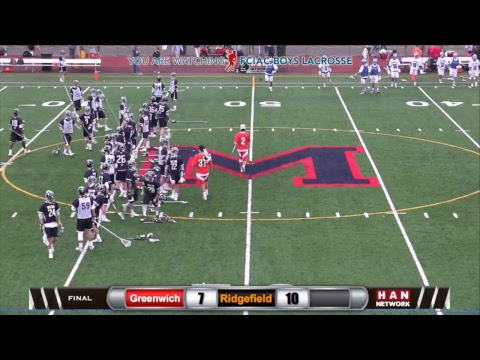 HAN Sports: FCIAC Boys Lacrosse Semifinals #2 Greenwich vs. #3 Ridgefield 5.23.17