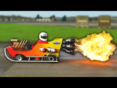 EPIC FLAMETHROWER GO-KART! (Vlog)