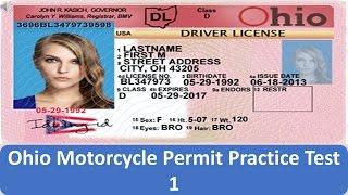 Ohio Motorcycle Permit Practice Test 1