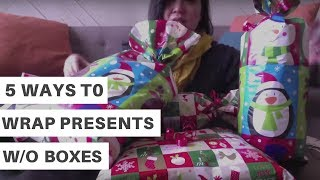How To Wrap A Present Without A Box (5 Ways)