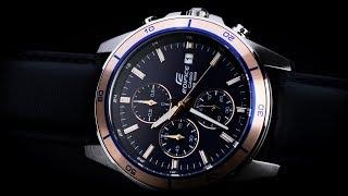 Review đồng hồ Casio EFR-526L-2AVUDF mặt số xanh thời trang kiểu dáng 6 kim Chronograph