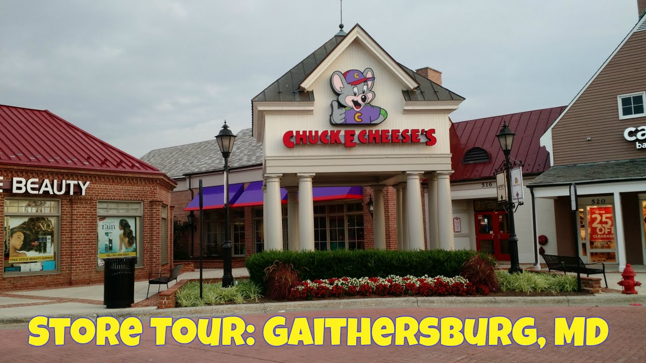 chuck e cheese s store tour gaithersburg md youtube