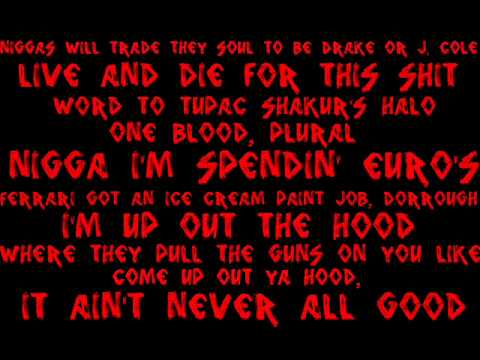 Game - Red Nation feat. Lil' Wayne  with lyrics on screen