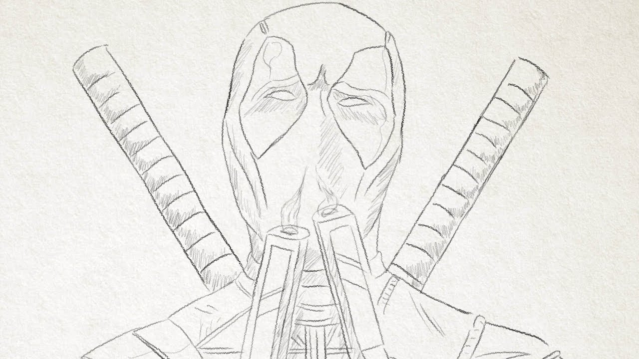 Deadpool Sketch - YouTubeDeadpool Sketch