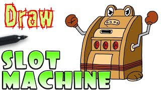 How to Draw the Slot Machine | Cuphead