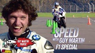 Guy's bike VS Red Bull F1 Car - the Slalom test | Guy Martin Proper