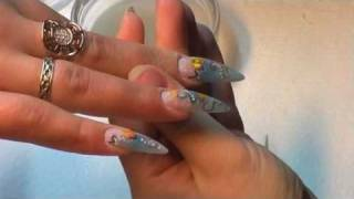 Acrylic Nail Art Step-by-step tutorial - how to do nail art designs