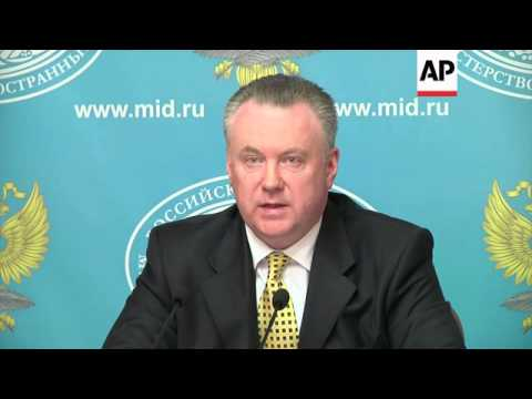 FM's spokesman on Syria, Libya and Russia/Holland diplomat scandal