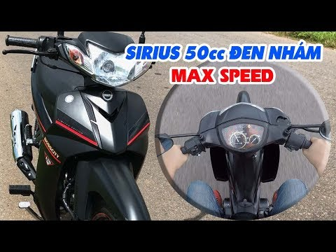 Sirius 50cc Đen Nhám ▶ Đánh giá, test Tốc độ và MAX SPEED!