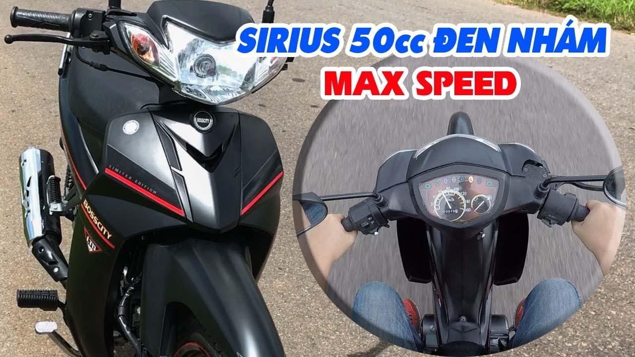Sirius 50cc Đen Nhám ▷ Đánh giá, test Tốc độ và MAX SPEED!
