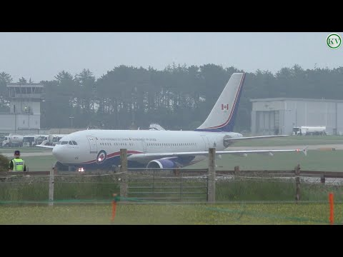 More Leaders Arrive In Cornwall, 15001 Canadian A310 And CS-EME Falcon 900EX