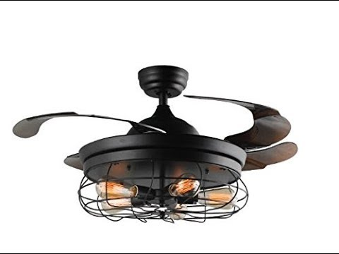 How to assemble install retractable blades chandelier - Fan with retractable blades ...