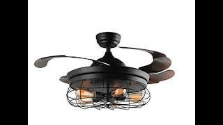 How to assemble & install  Retractable Blades chandelier ceiling fans