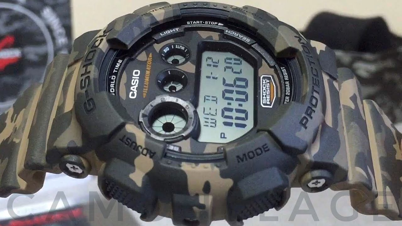 Casio G Shock GD 120CM 5JR Camouflage series watch unboxing & review