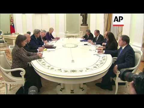 Kerry Meets With Putin Over Ukraine, Syria