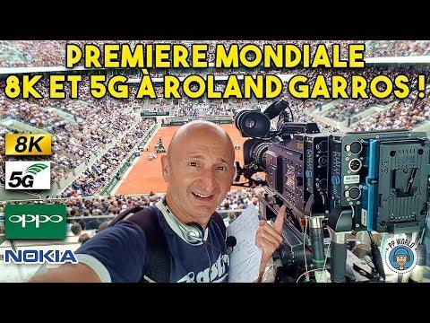 Première MONDIALE En 8K Et 5G à Roland-Garros !