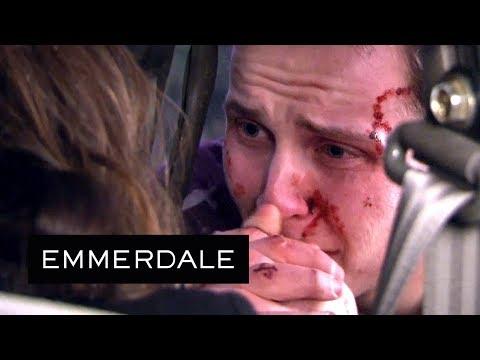 Emmerdale - Lachlan Watches Chrissie Die