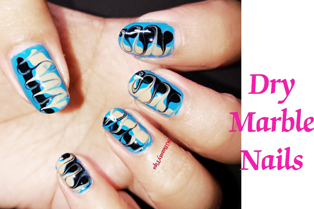 Fancy Marble Nail Art No Water Sketch - Nail Paint Design Ideas ...