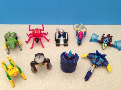 MCDONALD'S TRANSFORMERS BEAST MACHINES HAPPY MEAL FULL COLLECTION TOY REVIEW