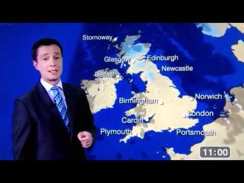BBC Weather man says C*nt live on TV ( ALEX DEAKIN )