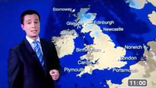BBC Weather man says C*nt live on TV ( ALEX DEAKIN )
