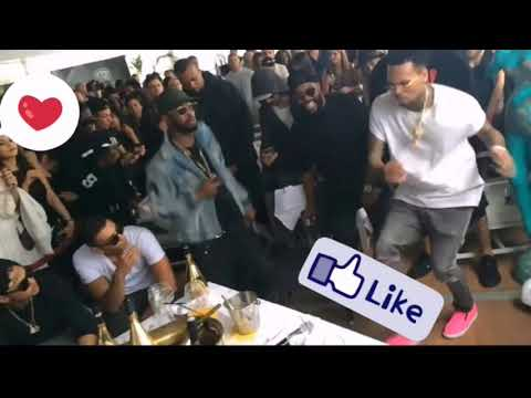 Chris Brown dancing to African beat by wizkid and patoranking ;this kind love