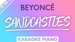 Beyoncé - Sandcastles (Karaoke Piano)