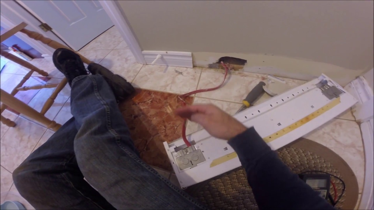 Diy Electric Baseboard Heater Replacement Or Cable Repair Due To Wiring Dimplex Rodent Damage