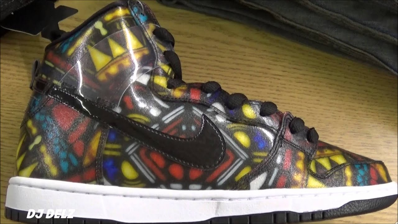 low priced 41ac9 bec15 CONCEPTS x Nike SB Dunk High Stained Glass Holy Grail Pack Shoe Review With   DjDelz