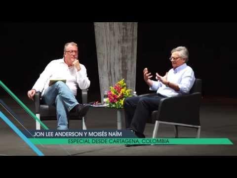 Jon Lee Anderson entrevista a Moisés Naím. Hay Festival, Cartagena