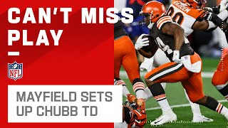 Baker Mayfield Marches Browns Downfield to Set Up Nick Chubb Opening-Drive TD