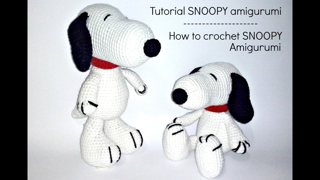 World Of Amigurumi : Tutorial Snoopy Amigurumi How to crochet SNOOPY ...