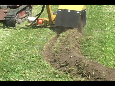 bed edger cutting a landscape edging trench youtube